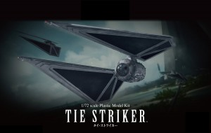 BANDAI Star Wars TIE STRIKER 1/72 Scale Plastic Model Kit - TIE-STRIKER