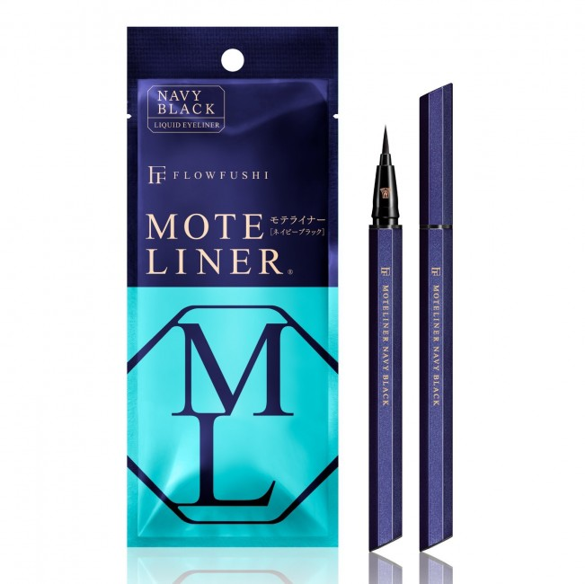 JAPAN Flowfushi MOTELINER Liquid Eyeliner - Navy Black / Black / Brown
