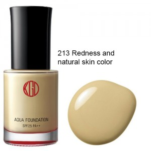 JAPAN Koh Gen Do 12 / 2 / 13 / 113 /123 / 143 / 213 Maifanshi Aqua Foundation 7 color SPF25 PA++ - 213- Redness Natural skin - 4560143650389
